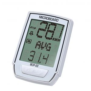 BBB cycling Compteur ''MICROBOARD'' 13 fonctions filaire Blanc