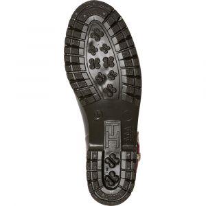 Tommy Hilfiger Corporate Belt Rain Boot, Bottes & Bottines de Pluie Femme, Vert (Military 302), 38 EU