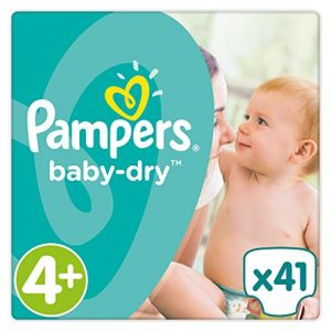 Pampers Baby-Dry taille 4+ 9-18 kg - 41 couches