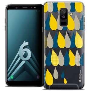 CaseInk Coque Gel Samsung Galaxy A6 PLUS 2018 (6 ) Extra Fine Petits Grains® - 3 Gouttes de Pluie