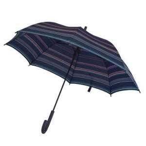 Esprit Parapluie long bleu marine à rayures