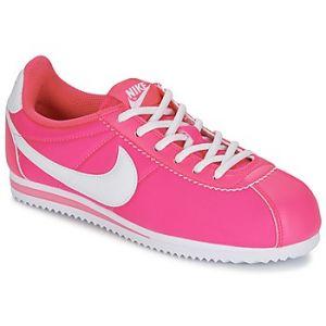 Nike Cortez Nylon (GS), Chaussures de Running Fille, Multicolore-Rosa/Blanco (Hyper Pink/White), 36 1/2 EU