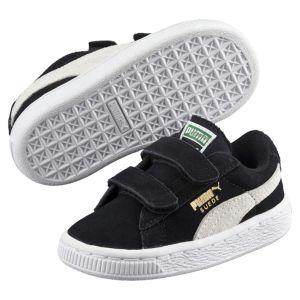 Puma Suede 2 Straps PS, Sneakers Basses Mixte Enfant, Noir (Black-White), 34 EU