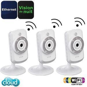 D-link DCS-942LX3 - Pack de 3 caméras IP sans fil DCS-942L