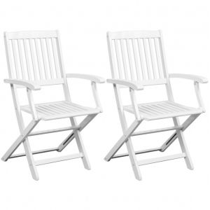 VidaXL 2 chaises pliantes en bois d'acacia