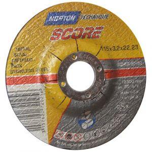 Norton clipper Disque à tronçonner - métal - 115x3.2x22.2 mm - Disque pour meuleuse
