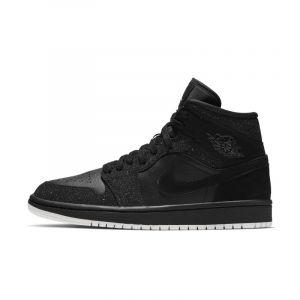 Nike Chaussure Air Jordan 1 Mid pour Femme - Noir - Couleur Noir - Taille 37.5