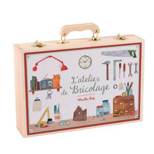 Moulin roty Grande valise bricolage (14 outils) Jouets d'hier