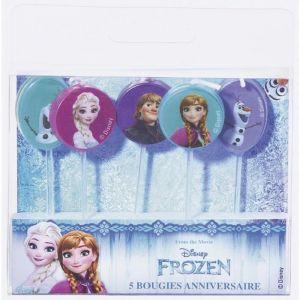 Devineau 5 bougies sur pics La Reine des neiges