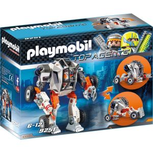 Playmobil 9251 - Top agents : Chef de la Spy Team avec Robot Mech