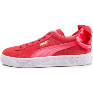 Puma Basket Suede Bow Enfant Rouge Baskets/Tennis Enfant