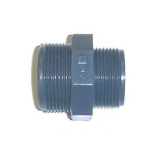 Centrocom Raccord PVC pression - Mamelon réduit PVC pression à visser 1-3/4