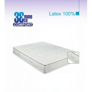 Eco-Confort - Matelas 100% latex 7 zones (130 x 190 x 22 cm)