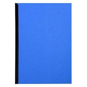 Exacompta 2781C - Paquet de 100 plats FOREVER, carte 270 g/m², grain cuir, coloris bleu