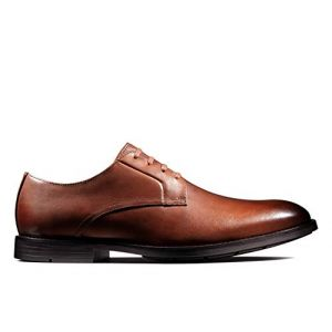 Clarks Ronnie Walk, Derbys Homme, Marron British Tan Lea, 45 EU
