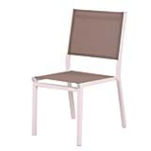 Art & Jardin 4 chaises de jardin Belterra II en aluminium et textilène