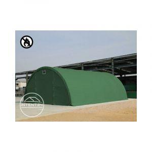 Intent24 9,15 m x 20 m tunnel TOOLPORT de stockage TOOLPORT (châssis 2 m), H. 4,5 m, PVC env. 720g/m² vert foncé