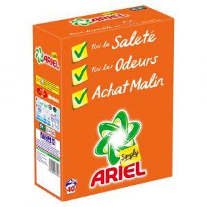Ariel Simply Lessive poudre Régulier 40 doses