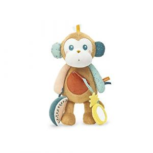 Kaloo Peluche Jungle Sam le singe multicolore