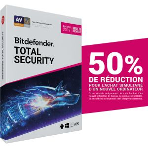 Bitdefender Total Security 2019 Offre Attachement - Licence 2 Ans 10 Appareils [Windows]