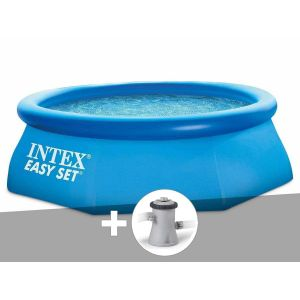 Intex Kit piscine autoportée Easy Set 2,44 x 0,76 m + épurateur 1,25 m³/h