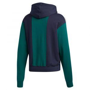 Adidas Off Court Trefoil sweat à capuche Hommes bleu vert T. L