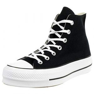Converse Chaussures casual Chuck Taylor All Star Platform Lift Clean Hautes Toile Noir - Taille 39,5