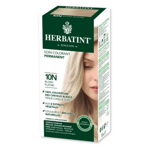 Herbatint Soin colorant permanent blond platine 10N