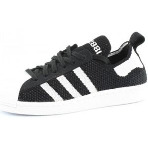 Adidas Originals Superstar 80S Primeknit W Mode Sneakers Femme Noir Blanc