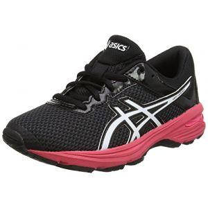 Asics Gt-1000 6 GS, Chaussures de Running Compétition Garçon, Noir (Dark Grey/White/Rouge Red), 39 EU
