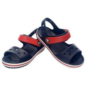 Crocs Crocband Sandal - Kids, Sandales Mixte Enfant, Bleu (Navy/Red) 24/25 EU
