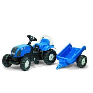 Rolly Toys Tracteur à pédales Landini PowerFarm 95 avec remorque
