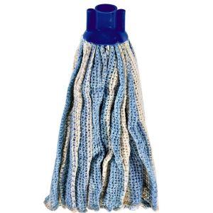 Serpillière franges pour laveur espagnol en coton avec adaptateur