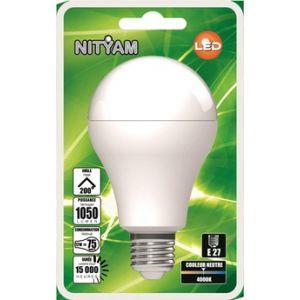 Nityam Ampoule LED PACK DE 3 STANDARD A60 9W E27 4000K
