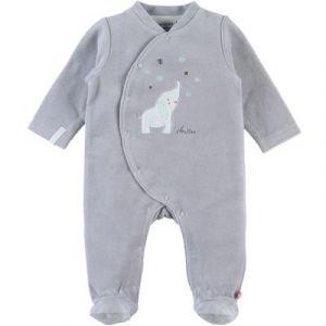 Noukie's Anna & Milo Pyjama Velours Anna - Gris - 1 mois