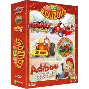 Coffrets Les Zouzous - Tracteur Tom - Saison 2, Volume 4 + Roary - Volume 2 + Adibou - Volume 3