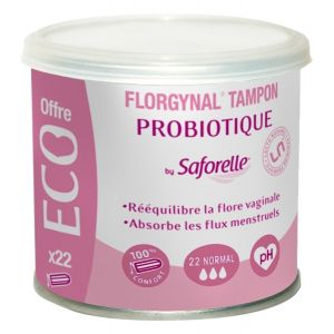 "Saforelle Florgynal - Tampon Probiotique ECO 22 ""Normal"" - (22 tampons)"