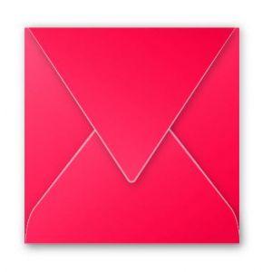 Clairefontaine 12025C - Enveloppe Pollen 120x120, 120 g/m², coloris rouge groseille, en paquet cellophané de 20