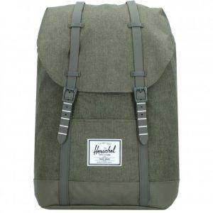 Herschel Retreat Backpack olive night crosshatch/olive night