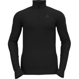 Odlo ACTIVE WARM ECO BL TOP TURTLE NECK L/S HALF ZIP BLACK 21 [Taille S]