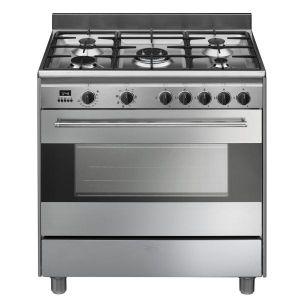 Smeg BG91CTX9 - Cuisinière mixte 5 brûleurs gaz avec four électrique