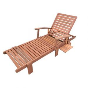 Viva Green Bain de soleil pliant en bois exotique Tokyo - Maple - Marron clair
