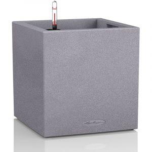 Lechuza Pot carré gris gamme Canto color L40xl40xH40,8 cm