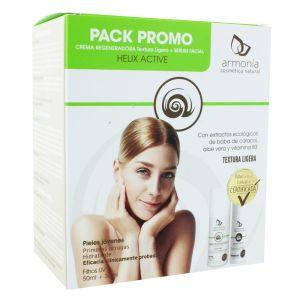 Armonía Helix Active Pack Escargot - Crème régénératrice légère & Sérum facial