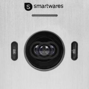 """SMARTWARES Interphone vidéo 2 fils avec écran couleur 7"""""""" pouces DIC-22212"""" - Ecran LCD de 7%u201D à ligne élancée - Caméra HD réglable avec vision nocturne - Installation facile avec 2 fils"""