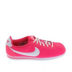 Nike Cortez Nylon (GS), Chaussures de Running Fille, Multicolore-Rosa/Blanco (Hyper Pink/White), 38 1/2 EU