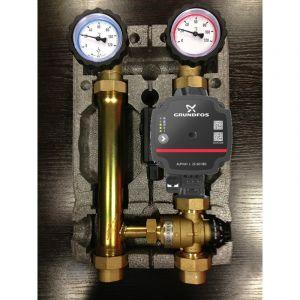 Silverlit Module hydraulique - groupe de pompe à mélange Grundfos 25-60 pour le chauffage par le sol - SILV