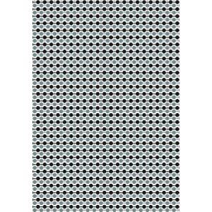 Clairefontaine 393815C - Sachet de 4 feuilles pliées de papier de soie, 18 g/m², 50x70cm, motif Boules noir/argent