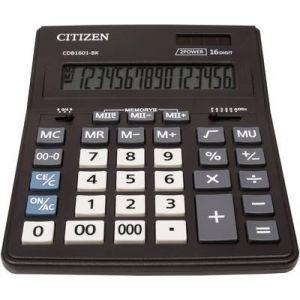 Citizen Calculatrice de bureau Office CDB 1601 noir solaire, à pile(s)