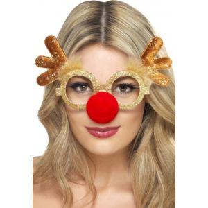 Smiffy's Lunettes renne adulte Noël